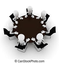 会議, 白, 人, 隔離された, 3d
