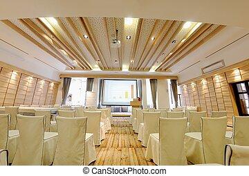 会議, 空, ビジネス, 部屋