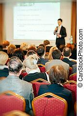 会議, 聴衆, スピーカー, ビジネス