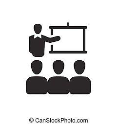 会議, 講義, アイコン