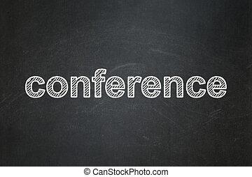 会議, concept:, 金融, 背景, 黒板