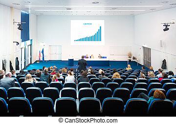 会議, hall., 聴衆