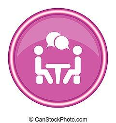 会議, icon., 人々, テーブル。, モデル