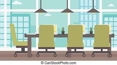 会議, room., 背景