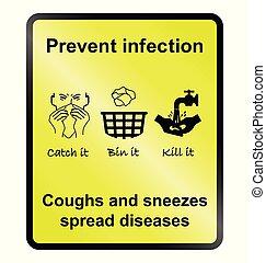 伝染を防ぎなさい