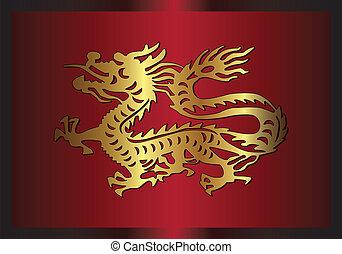伝統的である, アジア人, ドラゴン