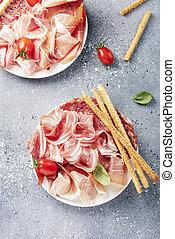 伝統的である, イタリア語, antipasto
