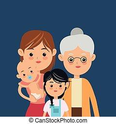 伝統的である, イメージ, 家族