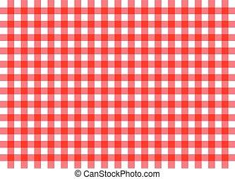 伝統的である, ギンガム, 赤い背景
