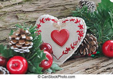 伝統的である, クリスマスの 装飾