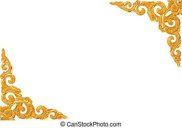 伝統的である, タイ人, スタイル, パターン, 装飾用である, 隔離された, 白, 背景