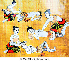伝統的である, タイ人, マッサージ