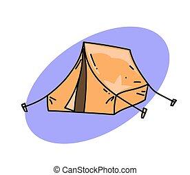伝統的である, テント