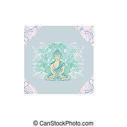伝統的である, パターン, 仏教, 芸術的, 中国語