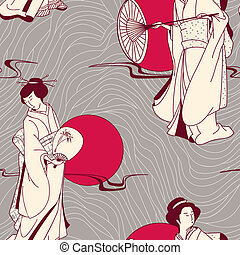 伝統的である, パターン, 日本語, 芸者
