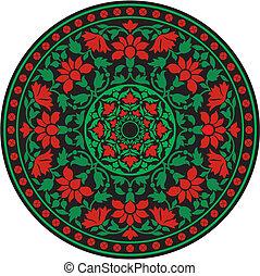 伝統的である, パターン, indian, 色
