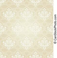 伝統的である, パターン, motif., seamless, イスラム教
