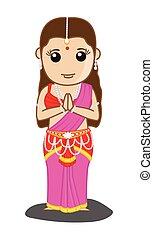 伝統的である, ヒンズー教信徒, mythological, 女性