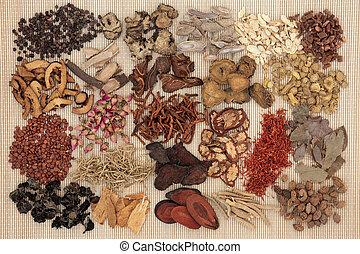 伝統的である, 中国の 草 薬