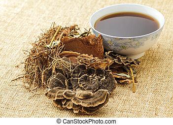 伝統的である, 中国語, 草の 茶