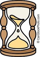 伝統的である, 入れ墨, 時間 ガラス