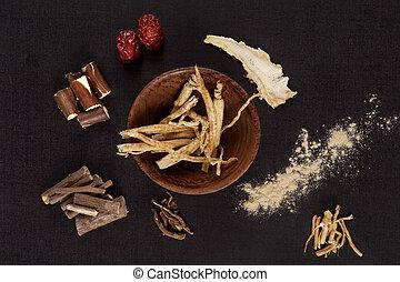 伝統的である, 医学, herbs.
