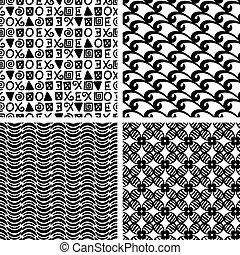 伝統的である, 印刷, ファッション, seamless, パターン