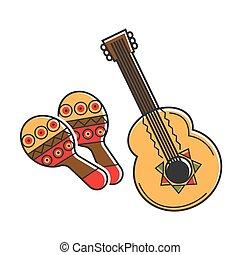 伝統的である, 国民, メキシコ人, 道具, ∥で∥, 民族, パターン, 隔離された, イラスト