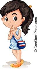 伝統的である, 女の子, タイ人, 挨拶, 方法