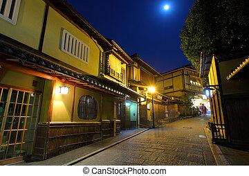伝統的である, 家, スタイル, 日本語, 京都
