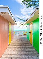 伝統的である, 家, 明るい, カリブ海