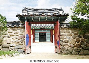 伝統的である, 家, 韓国南, ドア