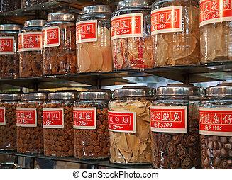 伝統的である, 店, 中国語