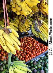 伝統的である, 新鮮な果物, 市場