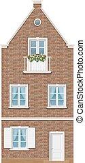 伝統的である, 町, オランダ語, 家