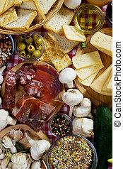 伝統的である, 食物, 原料