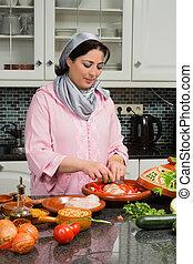 伝統的である, 食物, 現代, 台所