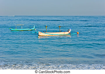 伝統的である, balinese, ボート