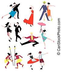 伝統的である, dances., 民族
