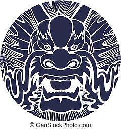 伝統的である, dragon., アジア人