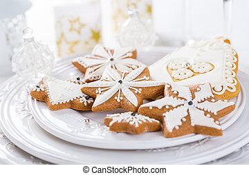 伝統的である, gingerbread のクッキー, クリスマス