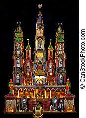 伝統的である, krakow, ポーランド, -, 現場, nativity