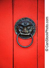 伝統的である, temple., ドア, 中国語