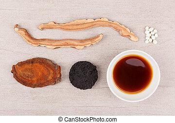 伝統的な薬, 中国語, バックグラウンド。