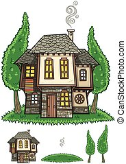 传统, bulgarian, 房子