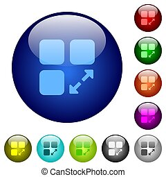 伸ばしなさい, コンポーネント, 色, ガラス, ボタン