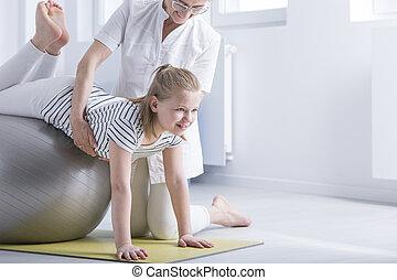 伸張, 女の子, 能力を発揮する, 練習