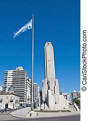 位置を定められた, bandera, monumento, ロサリオ, la