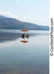 位置, 傘, 3, ギリシャ, kefalonia
