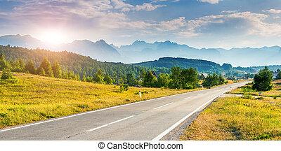 位置, 著名的地方, 國家公園, durmitor, balkans., 村莊, zabljak, 黑山,...